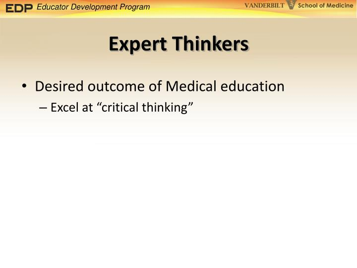 Expert Thinkers