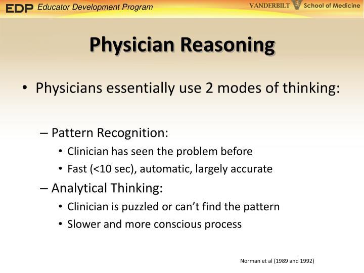 Physician Reasoning