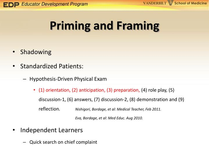 Priming and Framing