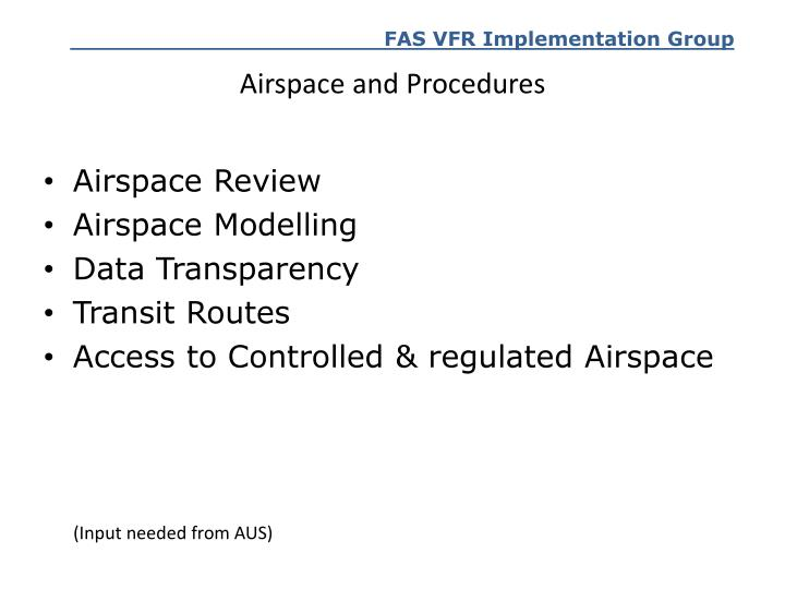Airspace and Procedures