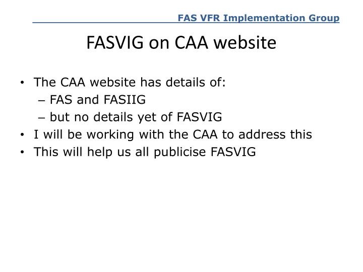 FASVIG on CAA website