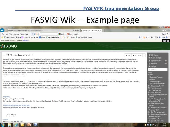 FASVIG Wiki – Example page