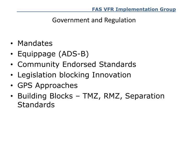 Government and Regulation