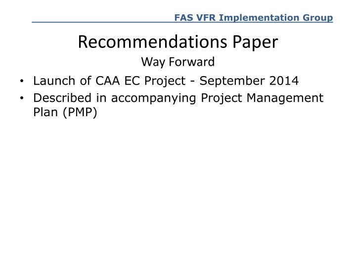 Recommendations Paper