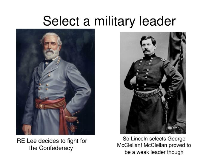 Select a military leader