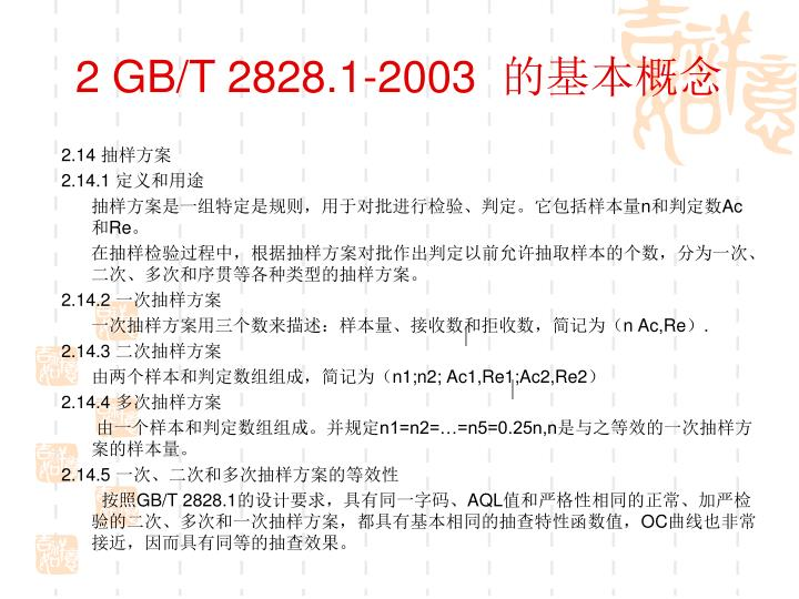 2 GB/T 2828.1-2003