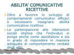 abilita comunicative ricettive