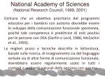 national academy of sciences national research council 1999 2001