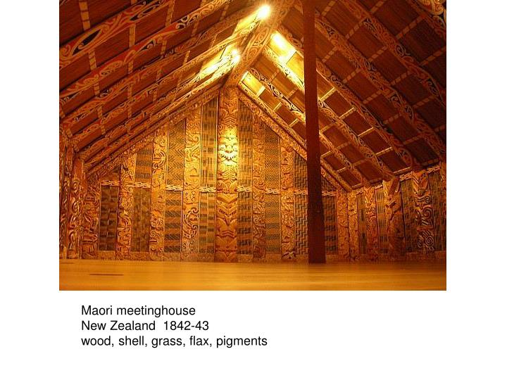 Maori meetinghouse