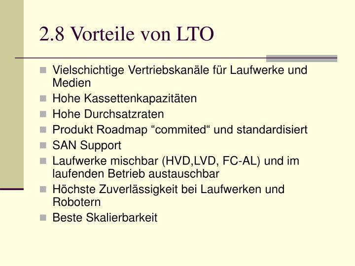 2.8 Vorteile von LTO