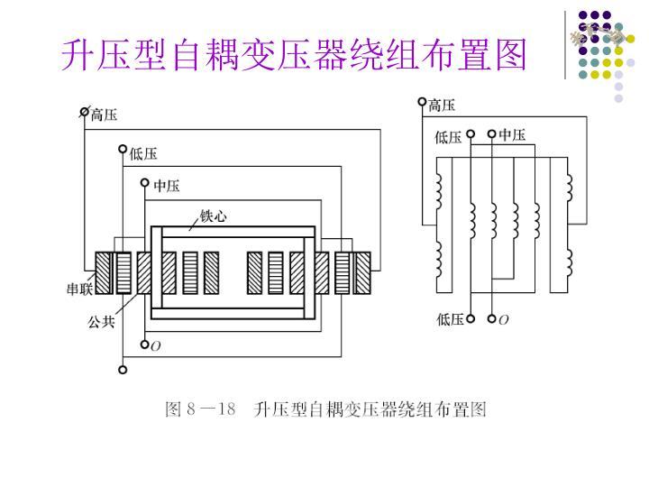 升压型自耦变压器绕组布置图