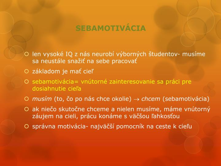 SEBAMOTIVÁCIA