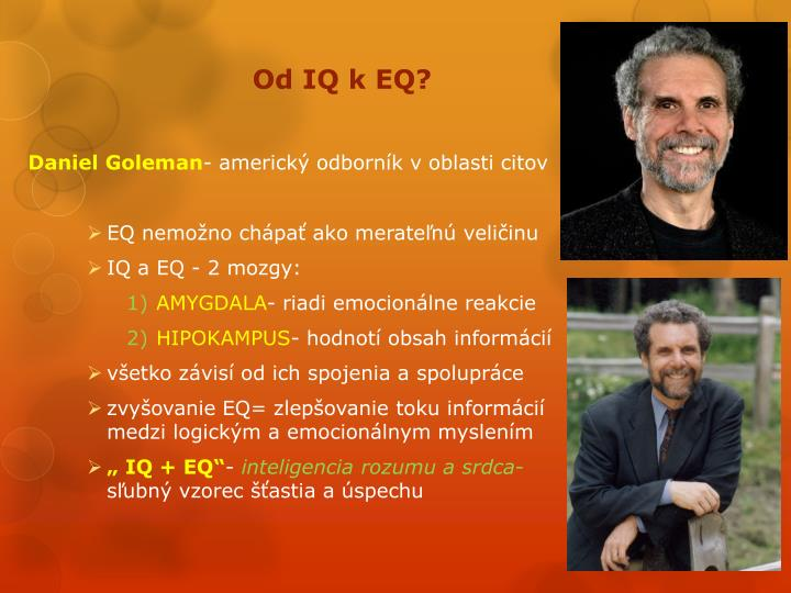 Od IQ k EQ?