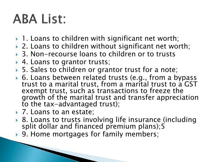 ABA List: