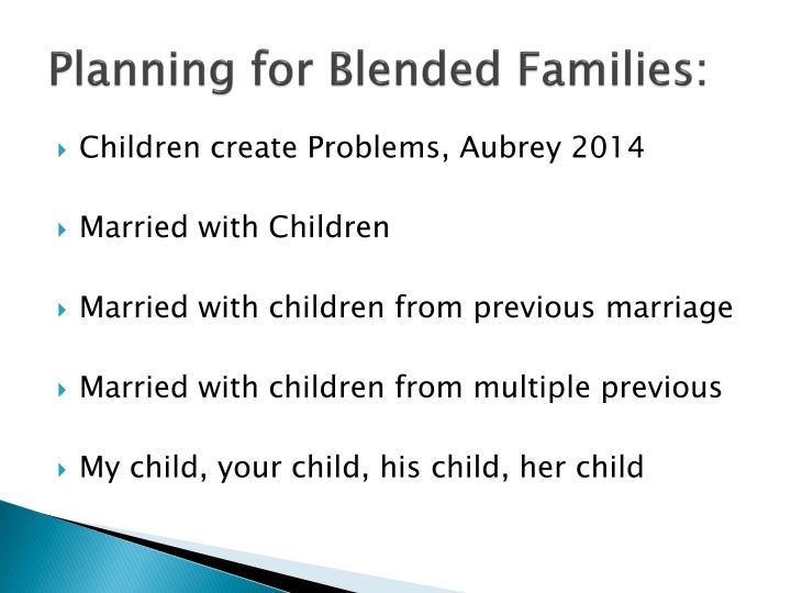 Planning for Blended Families:
