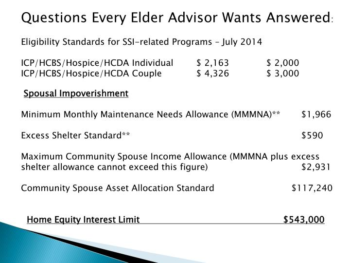 Questions Every Elder Advisor Wants Answered