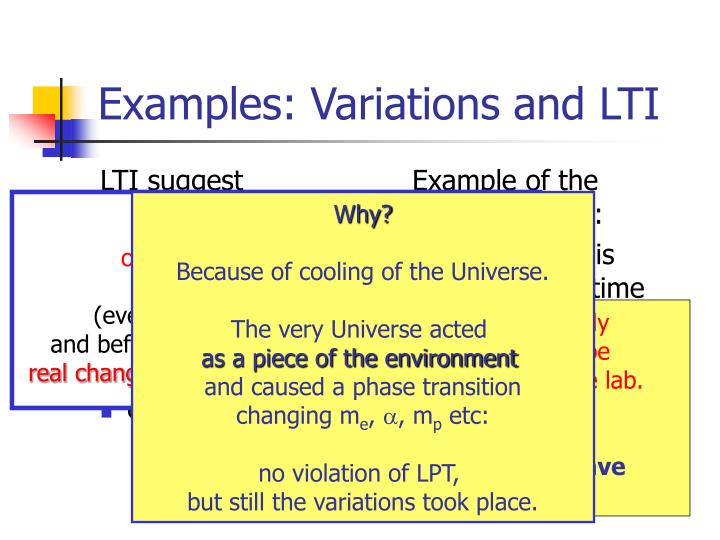 LTI suggest `fundamental experiments´: