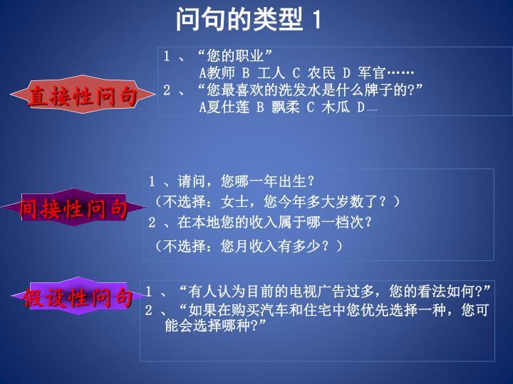 问句的类型1