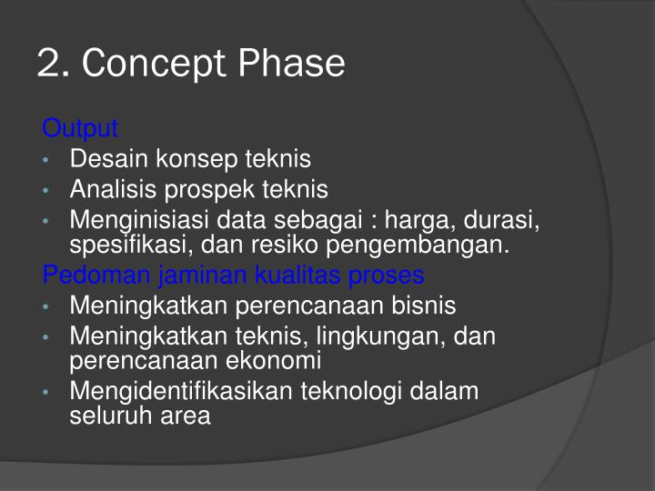 2. Concept Phase