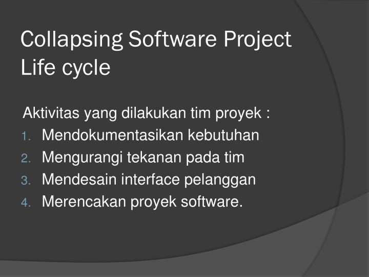 Collapsing Software Project Life cycle