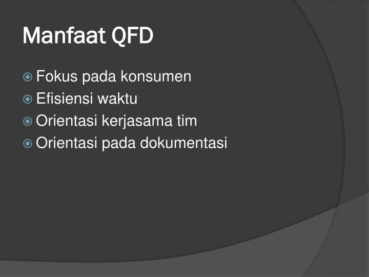 Manfaat QFD