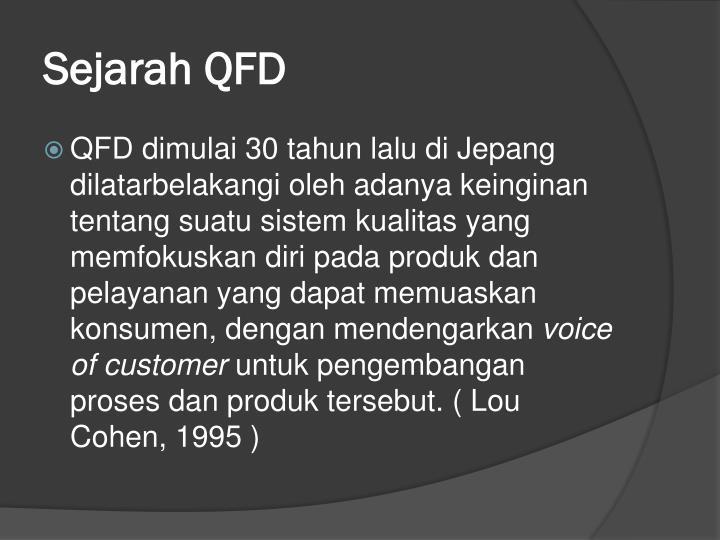 Sejarah QFD