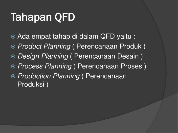 Tahapan QFD