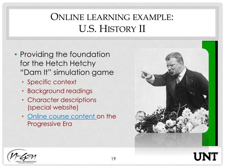 Online learning example: