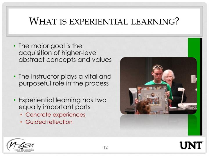 What is experiential learning?