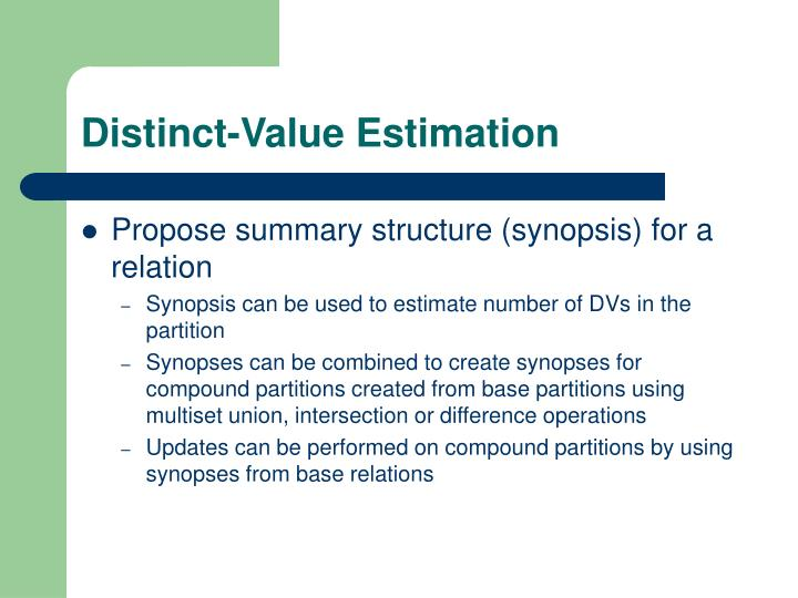 Distinct-Value Estimation