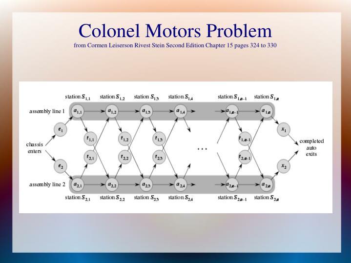 Colonel Motors Problem