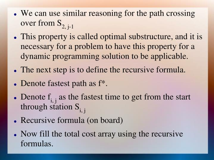 We can use similar reasoning for the path crossing over from S