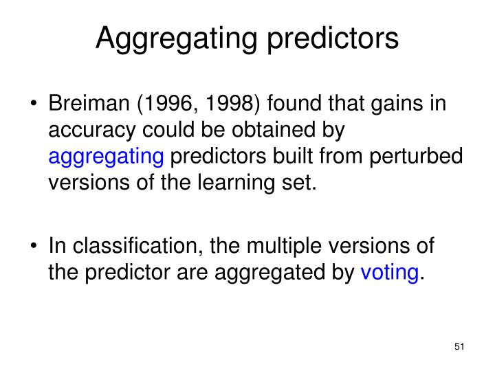 Aggregating predictors
