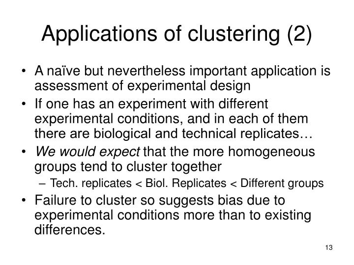 Applications of clustering (2)