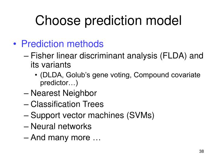 Choose prediction model
