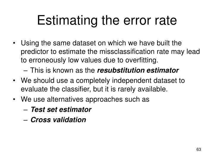 Estimating the error rate