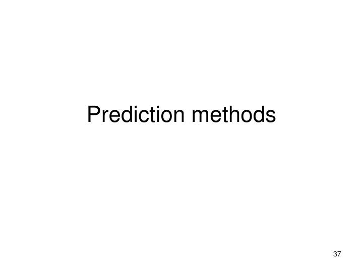 Prediction methods