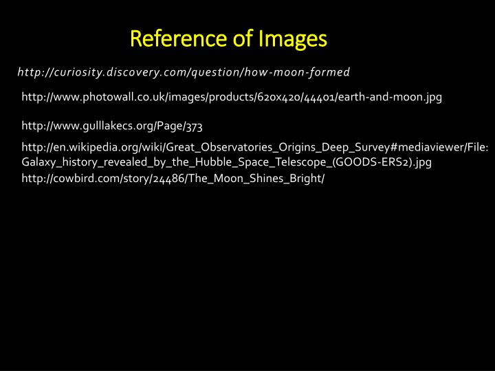 Reference of Images