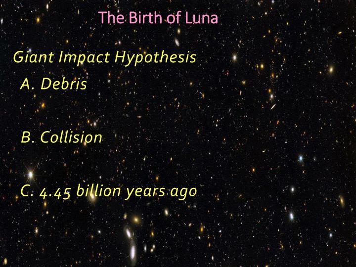 The Birth of Luna