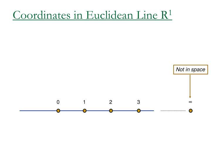 Coordinates in Euclidean Line R