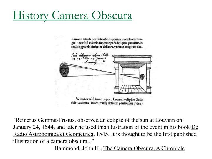 History Camera Obscura