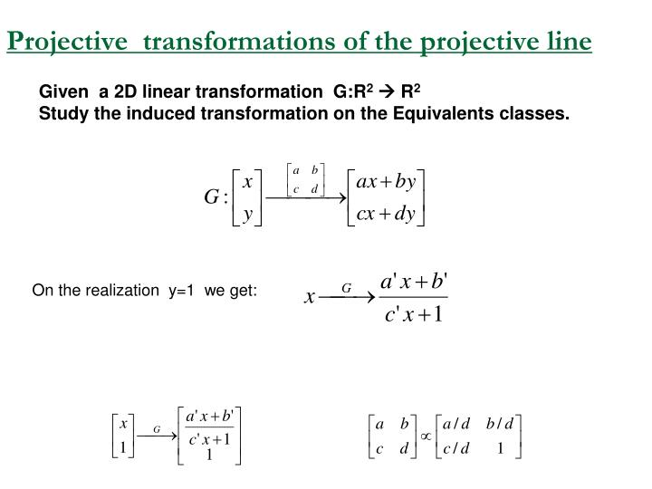 Projective  transformations of the projective line