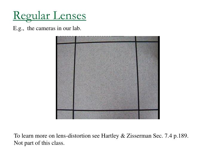 Regular Lenses
