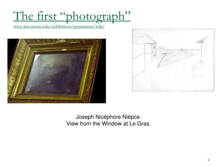 "The first ""photograph"""