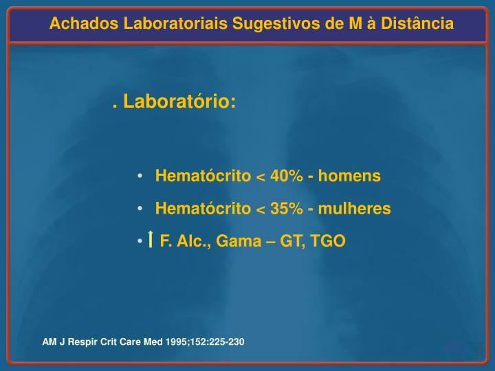 Achados Laboratoriais Sugestivos de M à Distância