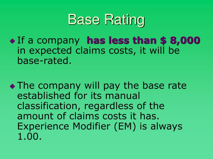Base Rating