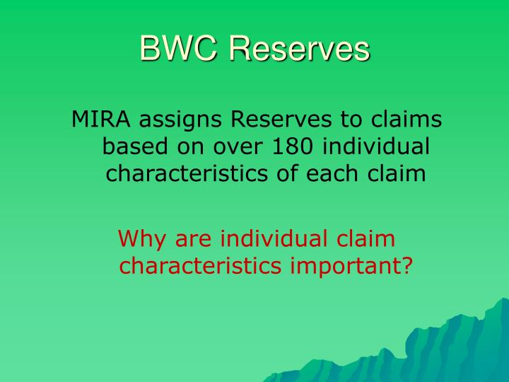 BWC Reserves