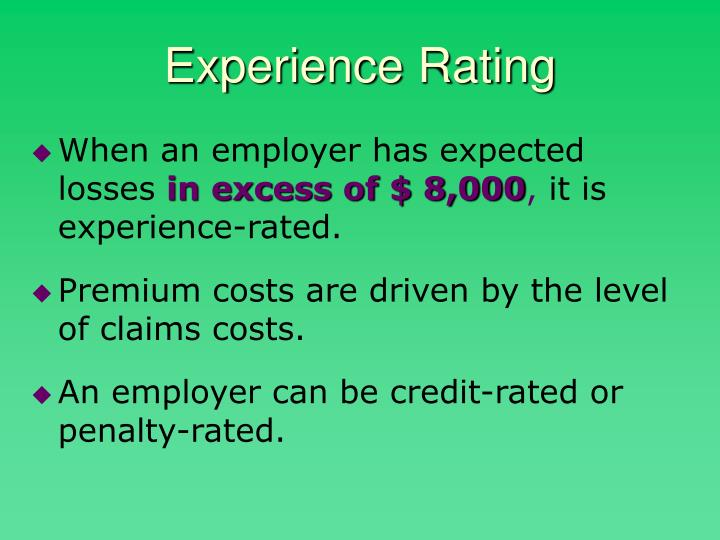 Experience Rating
