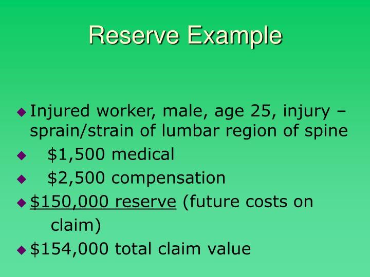 Reserve Example