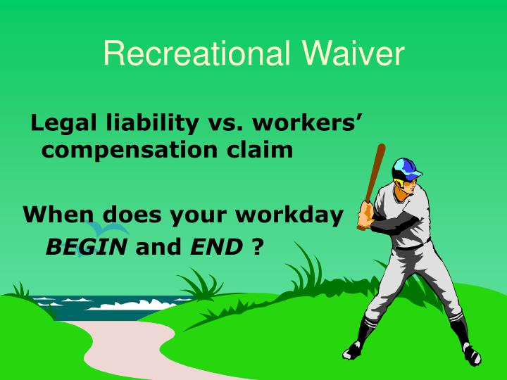 Recreational Waiver